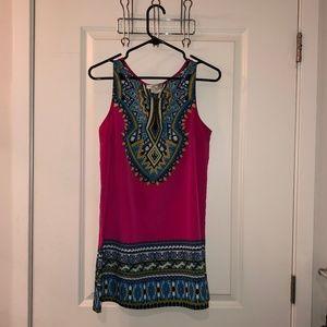 Pink/Magenta tunic dress